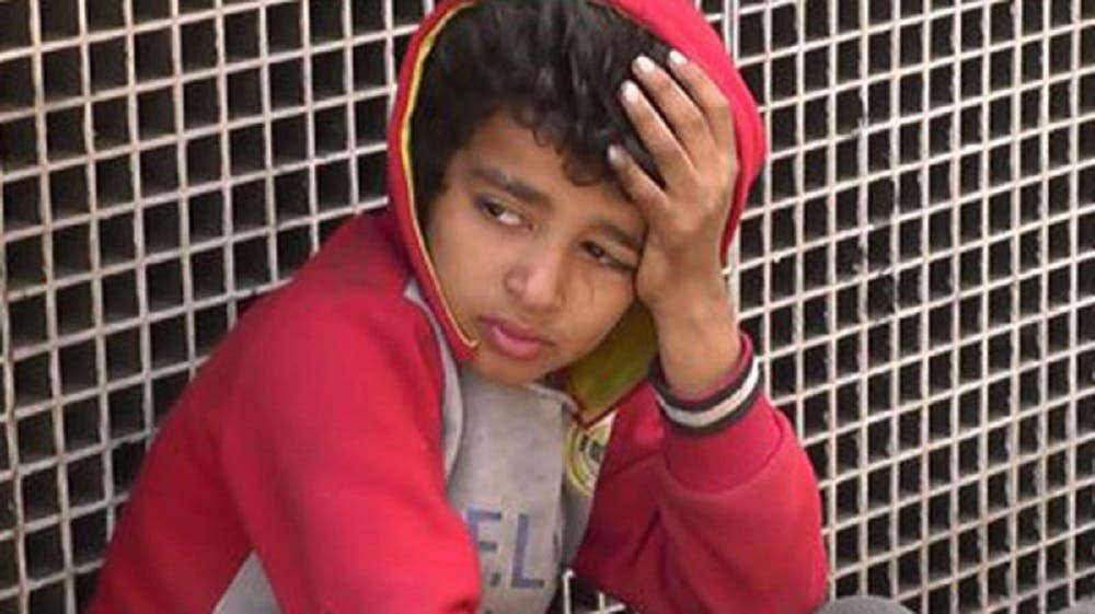Abdulrahman, 11, found himself in the streets after being kicked out of the family house by his father three years ago.