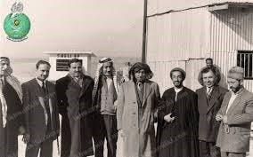 صورة لقاء سيد قطب ونواب صفوي في مؤتمر القدس بالقاهرة 1953
