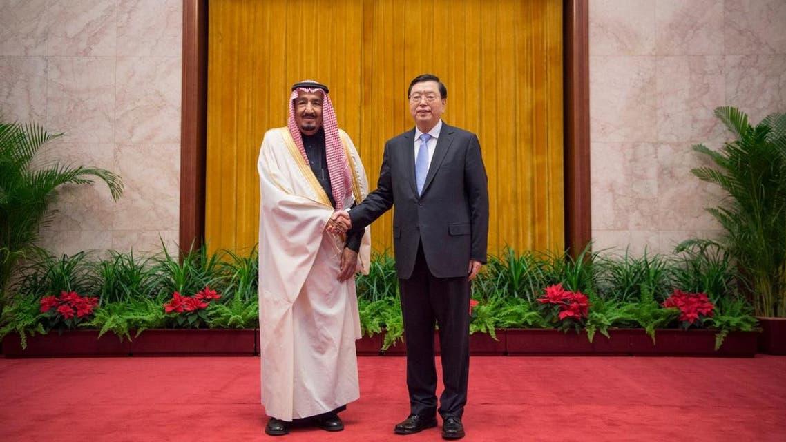 الملك سلمان يتباحث مع رئيس البرلمان الصيني
