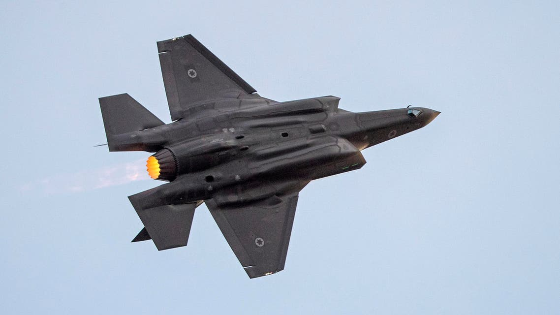 An Israeli F-35 fighter jet performs in an air show during the graduation ceremony of Israeli air force pilots at the Hatzerim base in the Negev desert, near the southern Israeli city of Beer Sheva, on December 29, 2016.