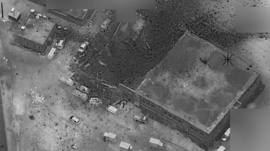 A post-strike photo of the site which the Pentagon says is of an al Qaeda senior leader meeting in al-Jinah, Syria, that U.S. stuck on March 16 is shown in this image released by Pentagon in Washington, DC, U.S. on March 17, 2017. Reuters