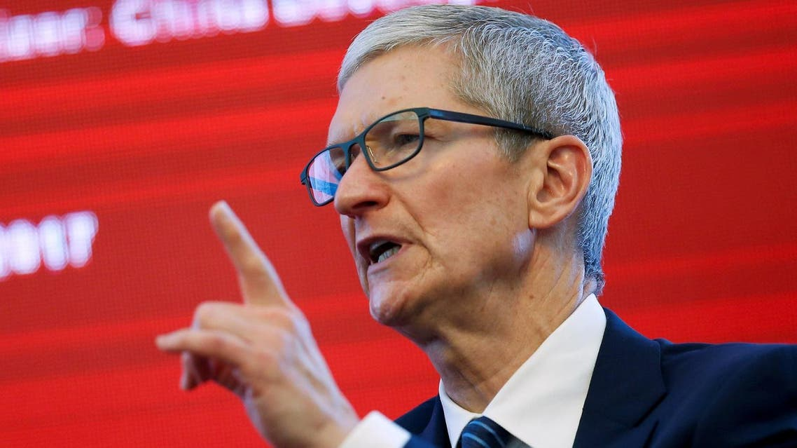 Apple CEO Tim Cook attends the China Development Forum in Beijing, China, March 18, 2017. REUTERS