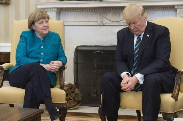 ترمب وميركل في البيت الأبيض الجمعة