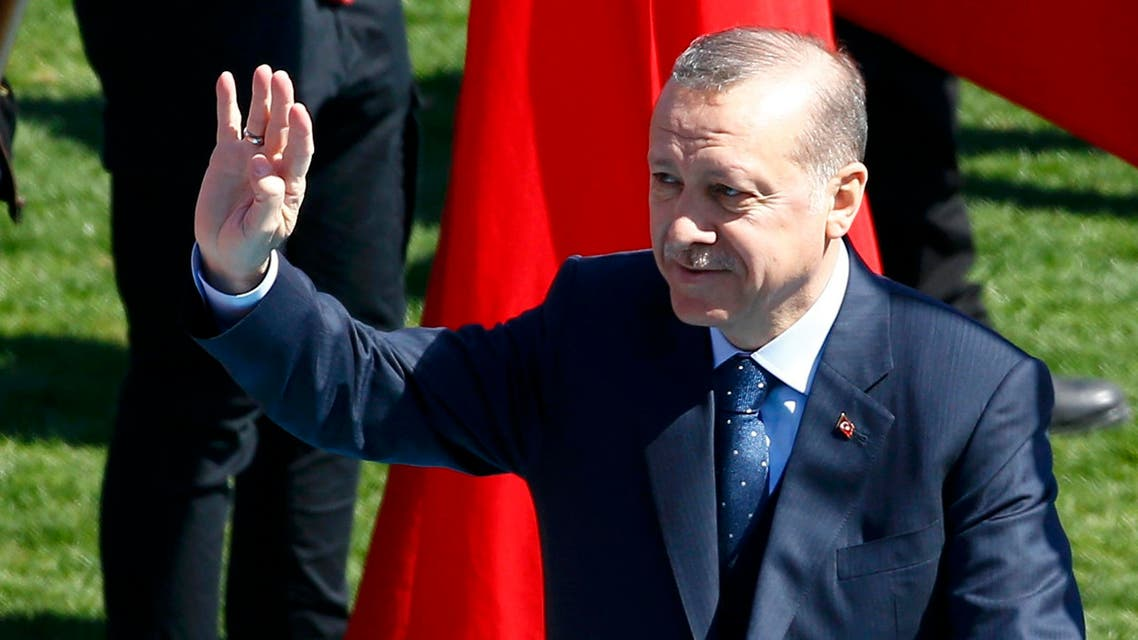 Turkish President Tayyip Erdogan attends a ceremony marking the 102nd anniversary of Battle of Canakkale, also known as the Gallipoli Campaign, in Canakkale, Turkey, March 18, 2017