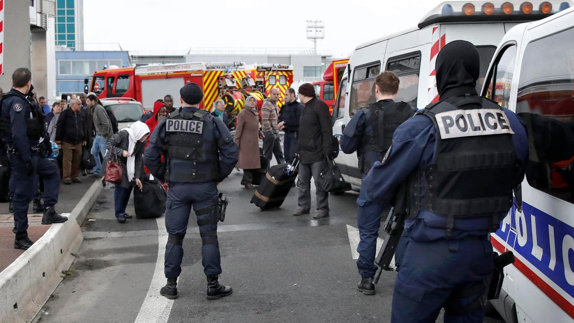 Police at Orly airport southern terminal after a shooting incident near Paris, France March 18, 2016. REUTERS/Benoit Tessier