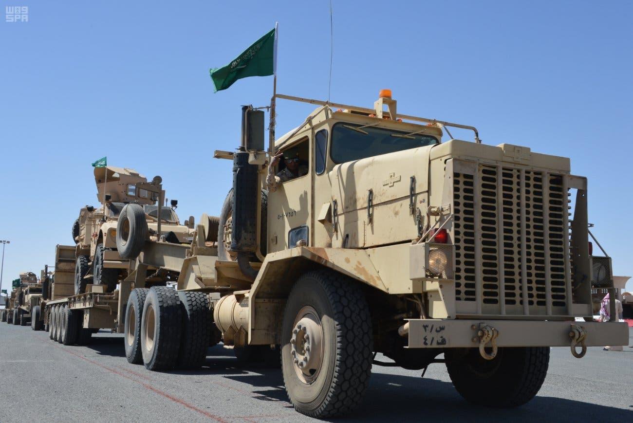 القوات السعودية - حسم العقبان - الكويت