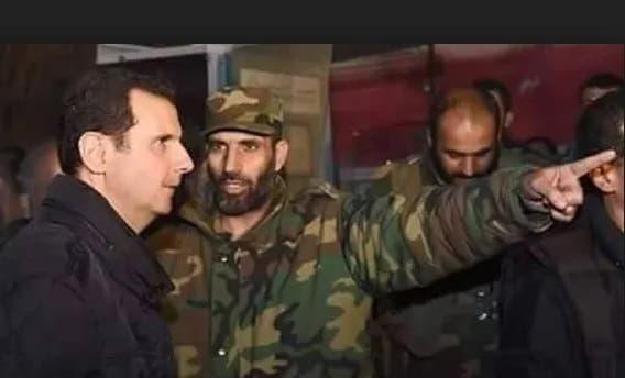 نعیم احمد در کنار بشار اسد