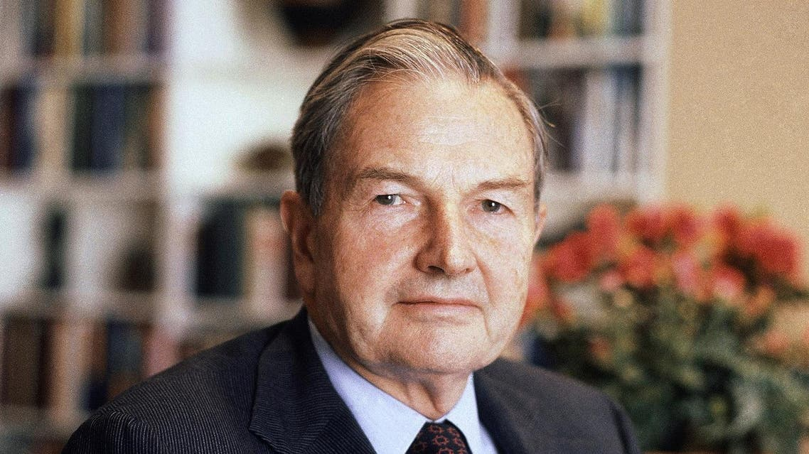 In this April 31, 1981, file photo, David Rockefeller poses for a photograph. The billionaire philanthropist who was the last of his generation in the famously philanthropic Rockefeller family died, Monday, March 20, 2017, according to a family spokesman. (AP)