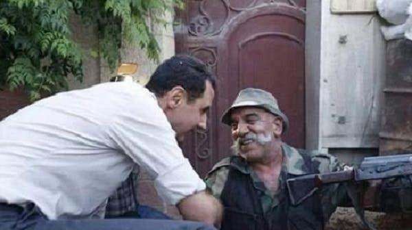 هیثم اسماعیل در کنار بشار اسد