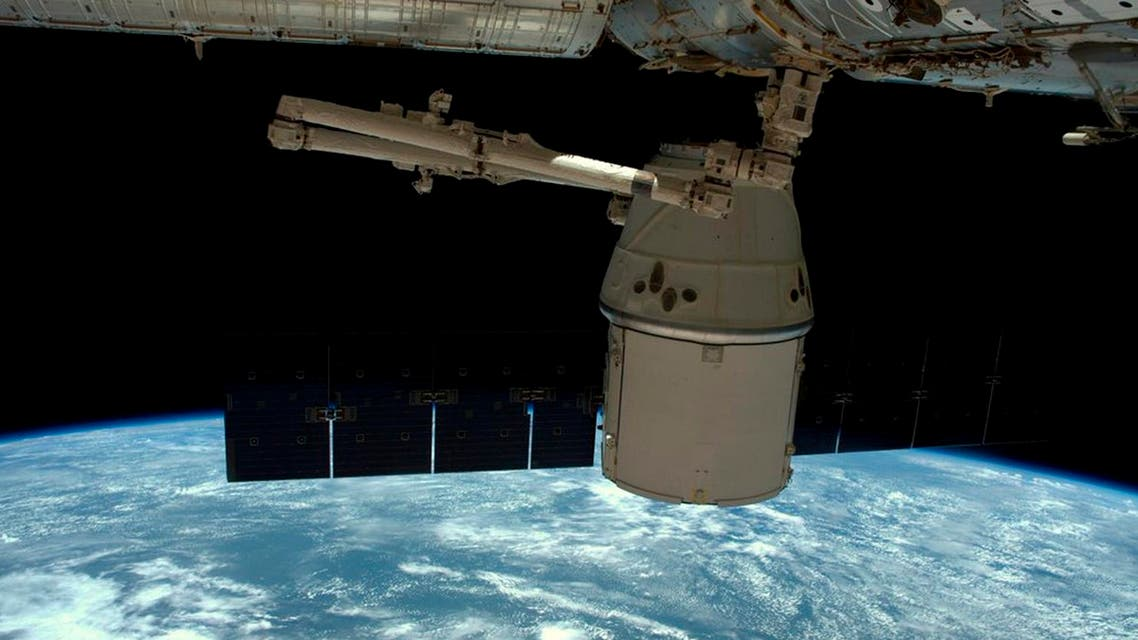 SpaceX Dragon capsule as it is released from the International Space Station in this image released to social media on May 11, 2016. (File Photo: Reuters)