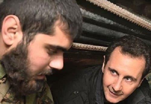 عبدالزین صقر در کنار بشار اسد