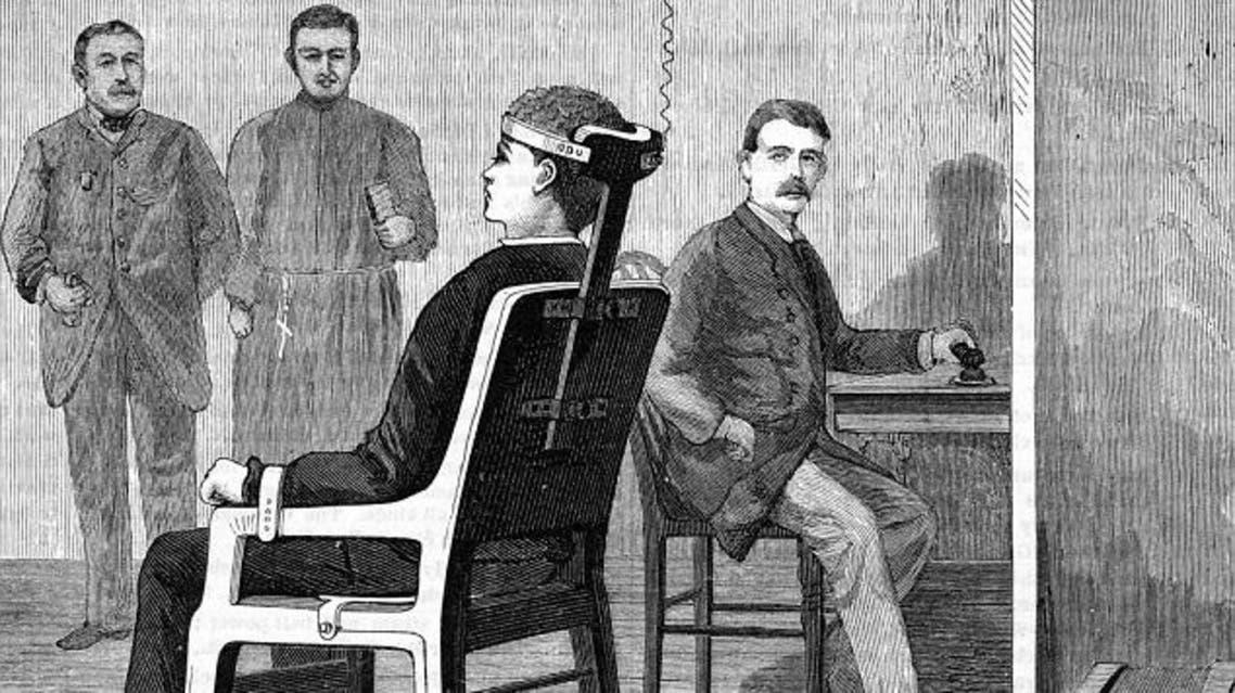 الكرسي الذي استخدم عام 1890 على وليام كريملير
