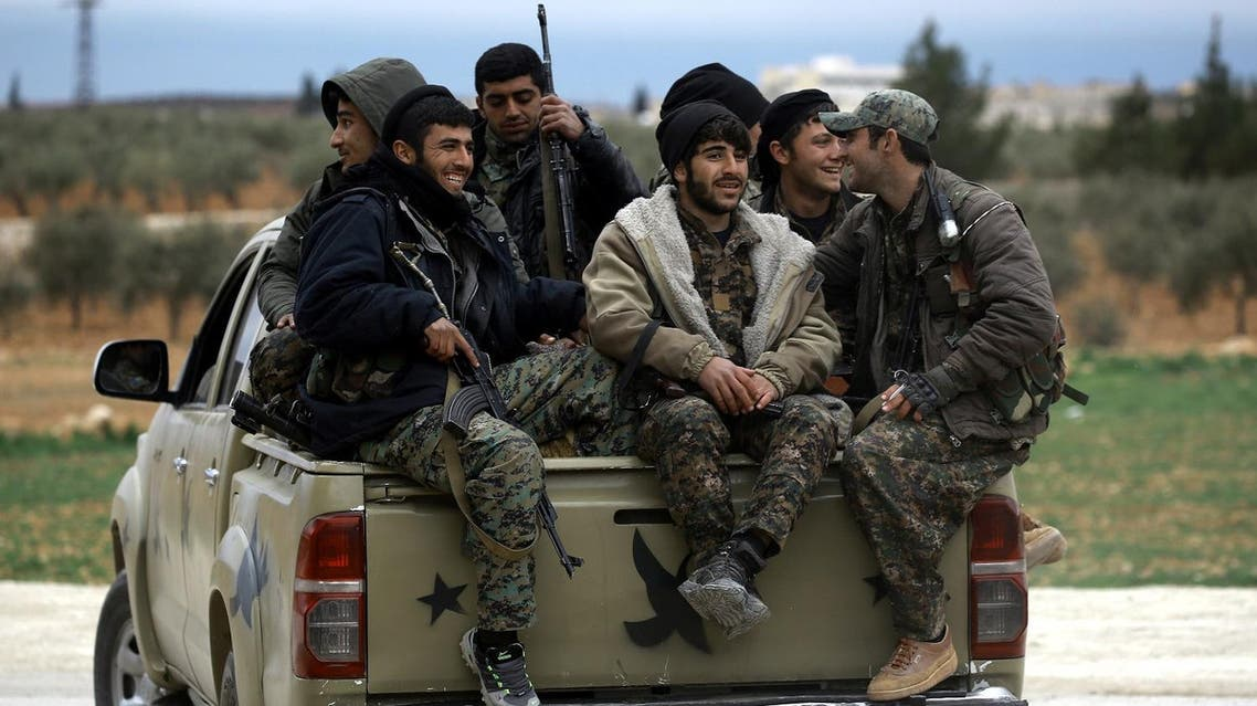 Manbij Military Council forces, part of the US-backed Syrian Democratic Forces (SDF). (AFP)