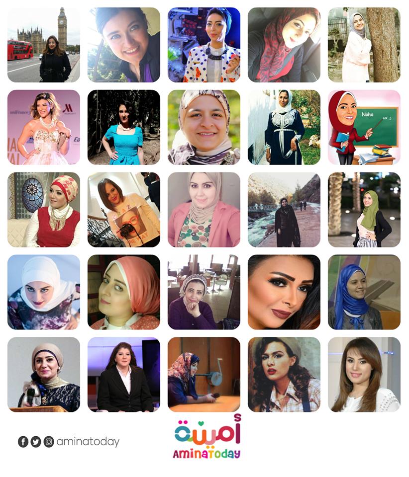الفتيات المشاركات في الموقع