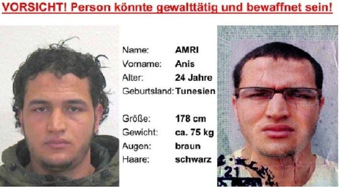 التونسي أنيس عامري، سقط قتيلاً بعمر 24 في ميلانو، بعد قتله 12 دهساً بالعجلات في ألمانيا