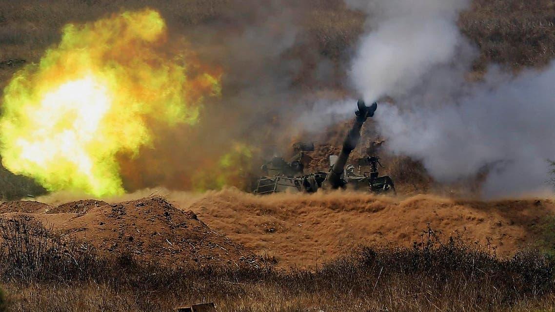 Israeli artillery fires towards Gaza, near the Israel and Gaza border. (File Photo: AP)