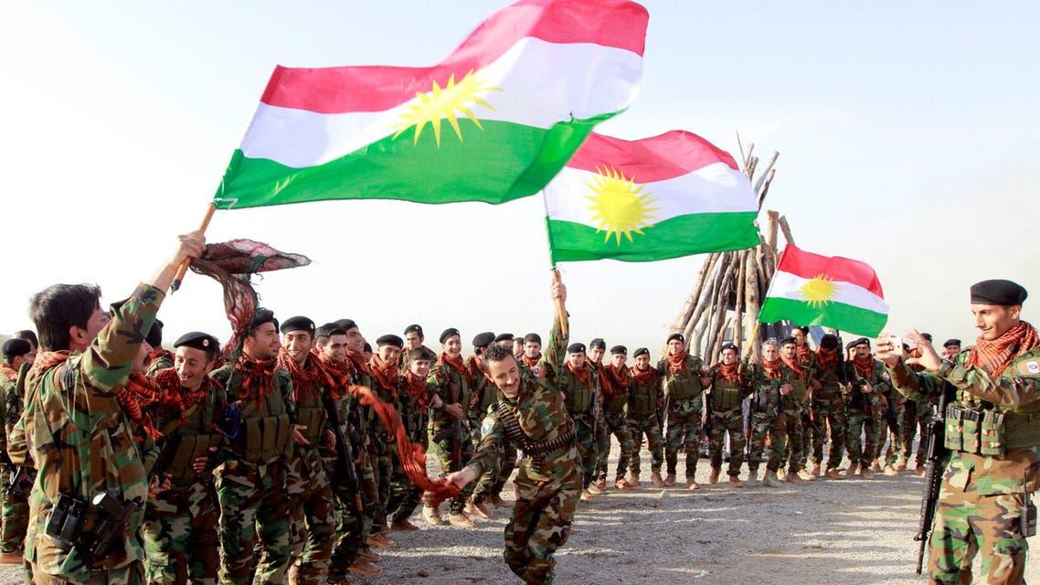 Kurdish Peshmerga forces celebrate Newroz Day, a festival marking spring and the new year, in Kirkuk March 20, 2017