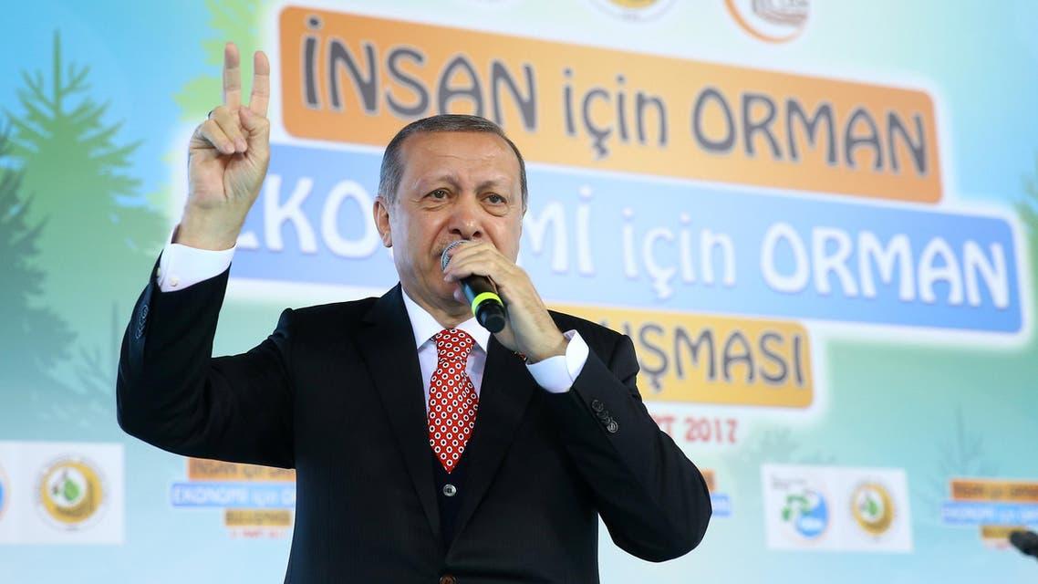 erdogan أردوغان متحدثاً في أنقرة 21 مارس 2017
