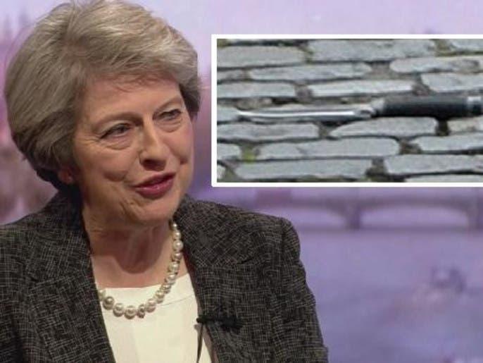 سكين الإرهاب كانت قريبة 35 خطوة من رئيسة وزراء بريطانيا