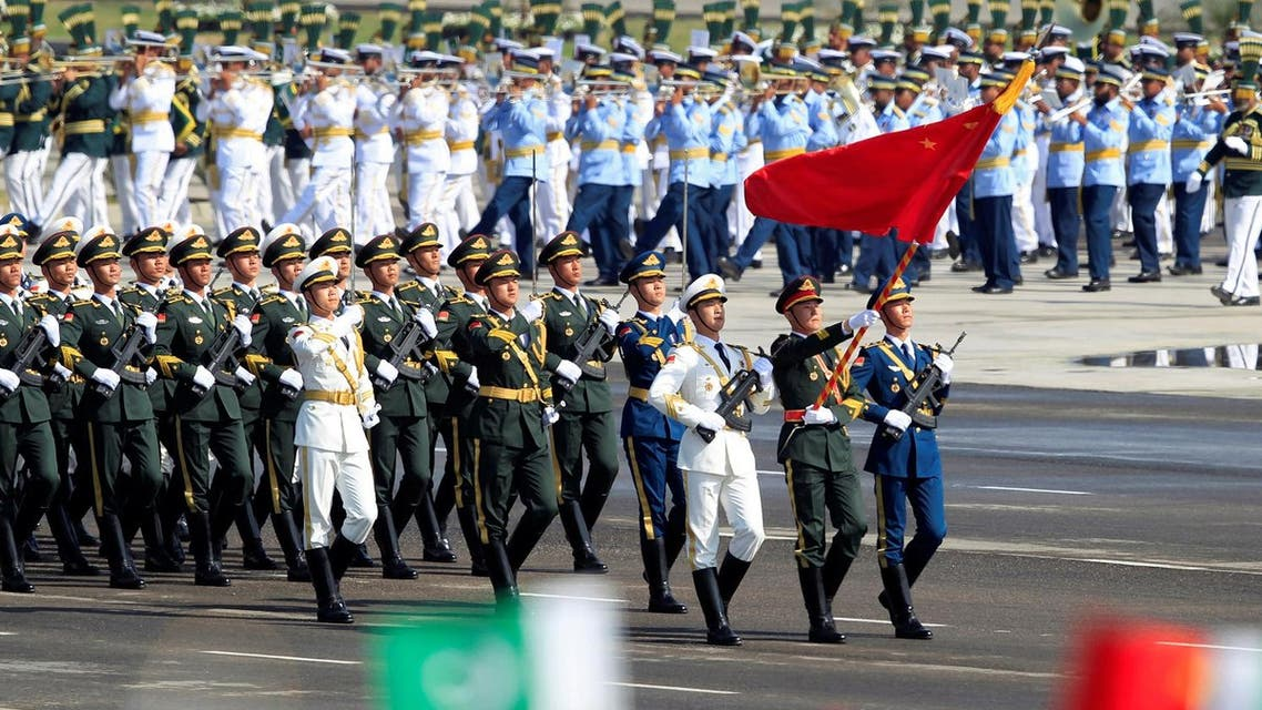 Chinese troops march as they take part in Pakistan Day military parade in Islamabad, Pakistan. (Reuters)