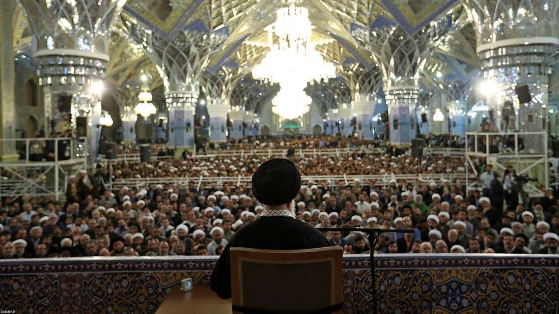 Iran's Supreme Leader Ayatollah Ali Khamenei delivers a speech in Mashad, Iran, March 21, 2017. (Reuters)