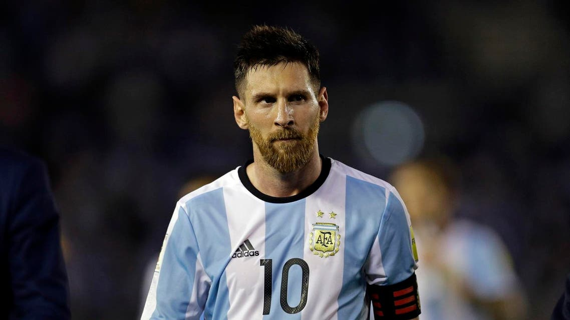 Argentina's Lionel Messi leaves the pitch after a 2018 Russia World Cup qualifying soccer match between Argentina and Chile at the Monumental stadium in Buenos Aires, Argentina, Thursday March 23, 2017. Argentina won the match 1-0. (AP)