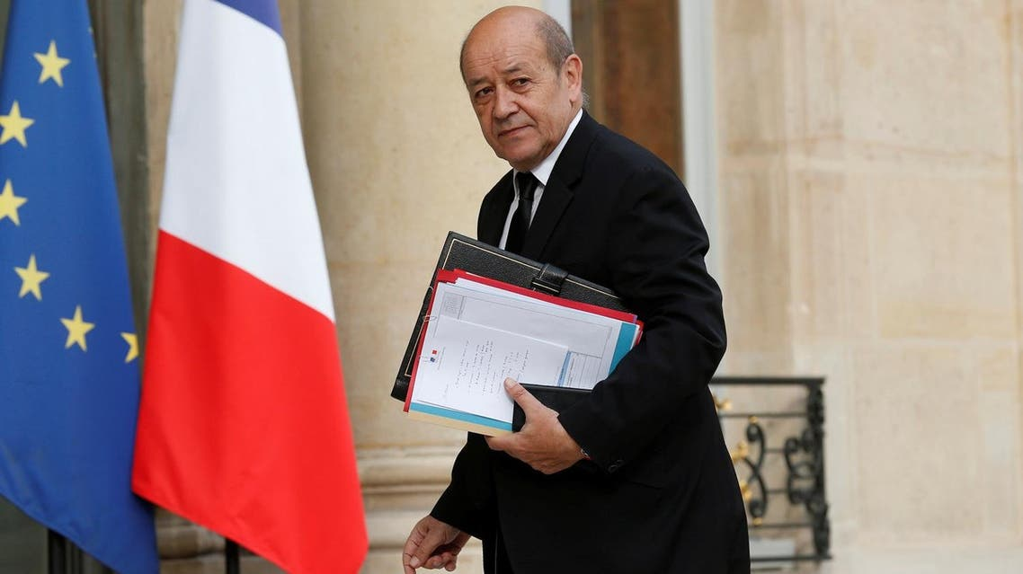 French Defense Minister Jean-Yves Le Drian arrives to attend a defense council at the Elysee Palace in Paris, France, July 27, 2016. (Reuters)