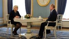 بوتين خلال لقائه لوبان: لن نتدخل في انتخابات فرنسا