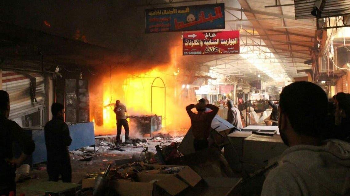 قذائف داعش تسقط على سوق النبي يونس في شرق الموصل