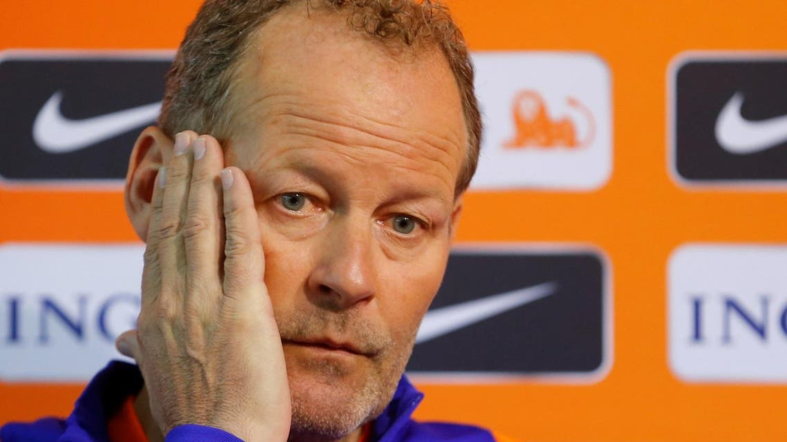 Football Soccer - Netherlands press conference - World Cup 2018 Qualifiers - Vasil Levski National Stadium, Sofia, Bulgaria - 24/03/17 Netherlands national team head coach Danny Blind attends a press conference. REUTERS/Laszlo Balogh