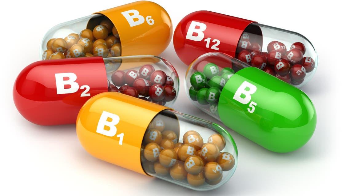 Vitamin B. Capsules B1 B2 B6 B12 b