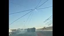 بالفيديو.. لاحق سيارة حتى صدمها وانقلبت ثم فر هارباً