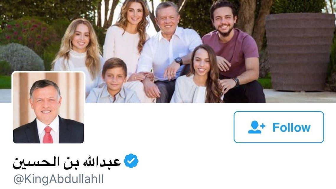 """العاهل الأردني يدشن صفحة له على """"تويتر رئيسية"""""""