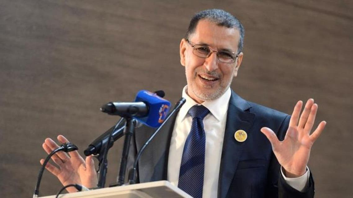Saad Eddine El Othmani of the Islamist Justice and Development Party (PJD) gives his first speech during a meeting of PJD at the Moulay Rachid Complex in Rabat, March 18, 2017. (Reuters)