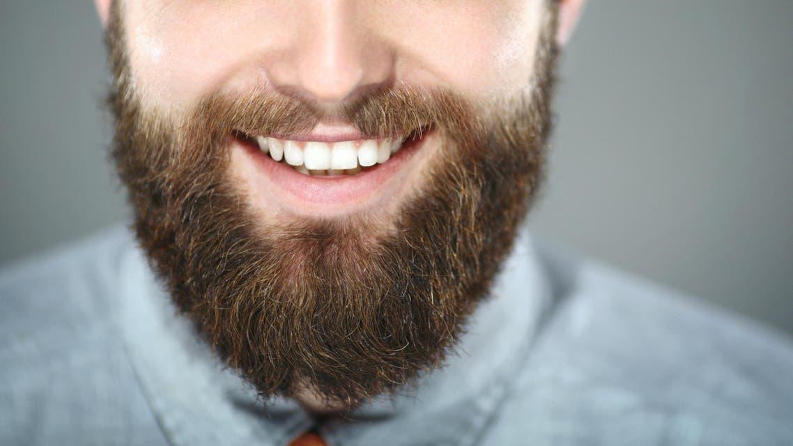 Smiling bearded man beard