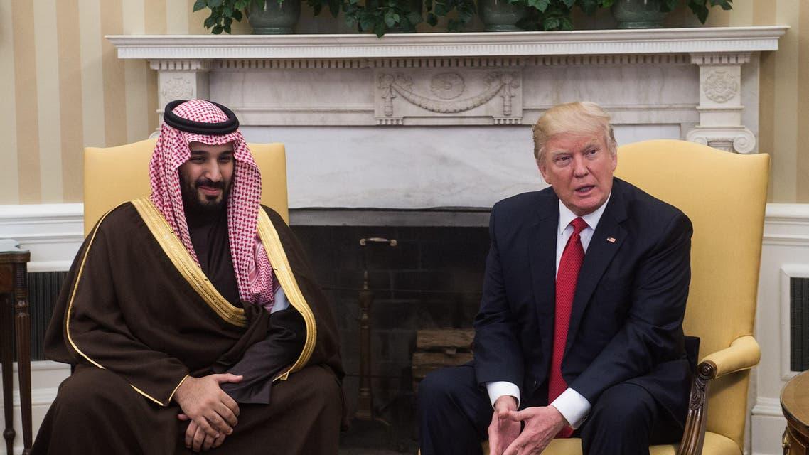 جانب من لقاء الرئيس دونالد ترمب والأمير محمد بن سلمان في البيت الأبيض