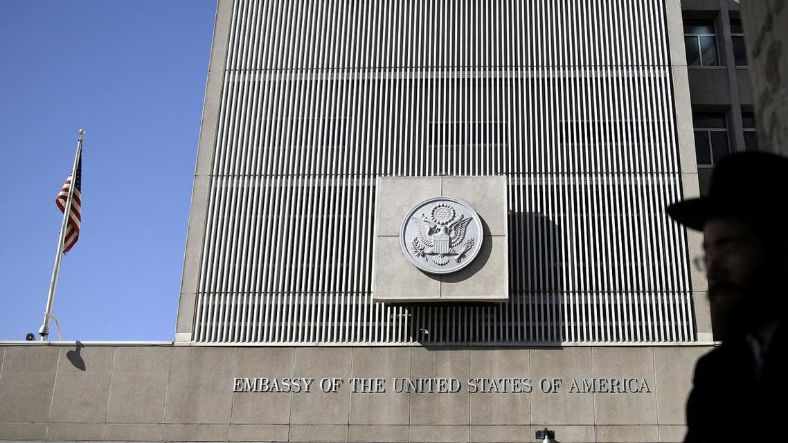 The front of the US embassy is seen in Tel Aviv. (File Photo: Reuters)