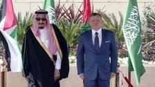 King Salman meets Jordan's King Abdullah ahead of Arab summit