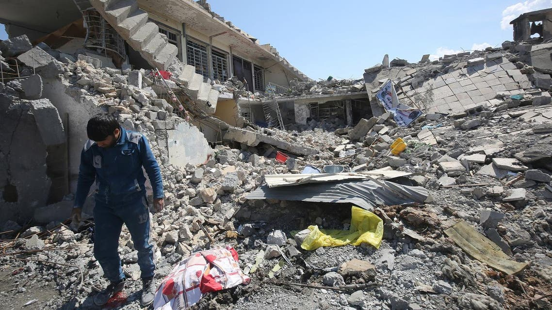 US-led strike should not have collapsed Mosul building (AFP)