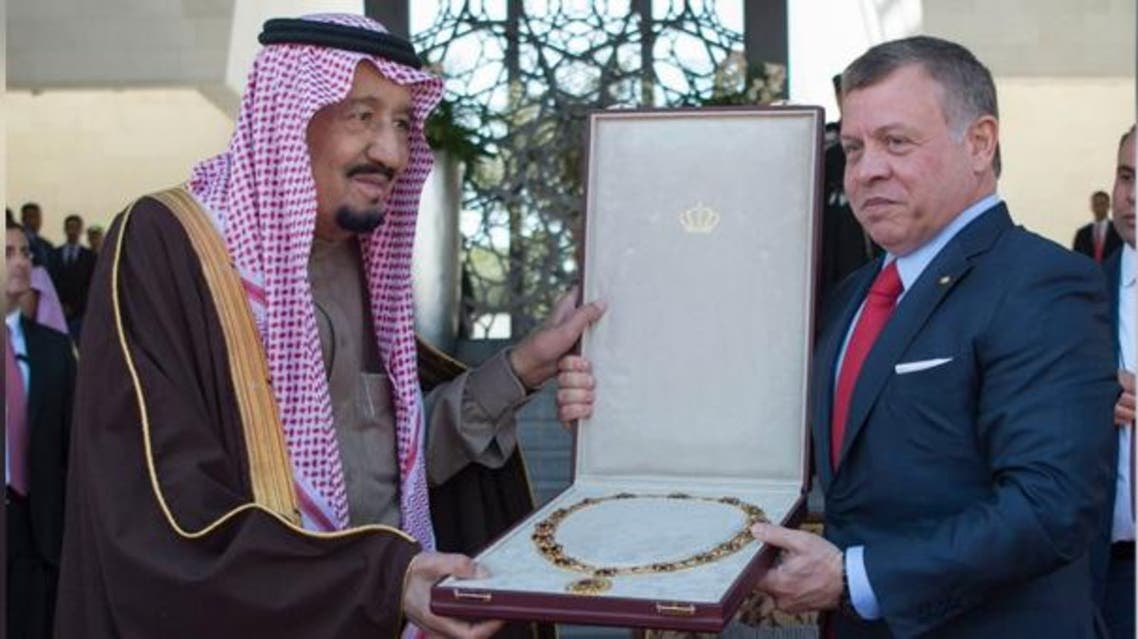 King Salman receives Jordan's highest award