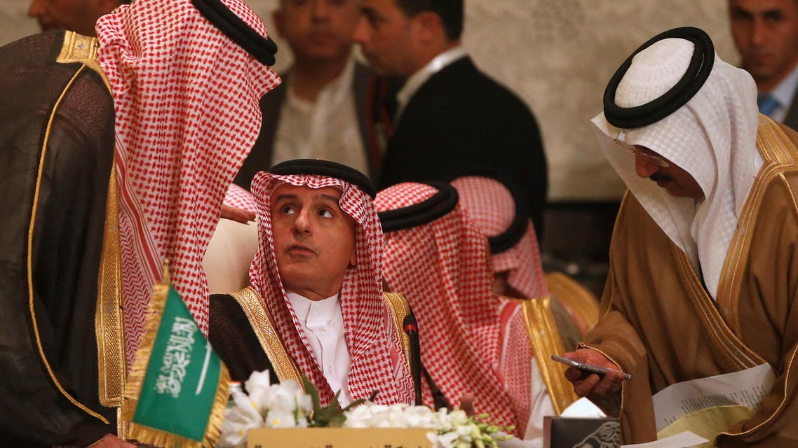 Saudi Arabia's Foreign Minister Adel al-Jubeir attends the preparatory meeting of Arab Foreign ministers of the 28th Ordinary Summit of the Arab League at the Dead Sea, Jordan March 27, 2017. REUTERS/Muhammad Hamed