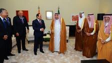 King Salman meets with Egypt's Sisi, Iraq's Abadi