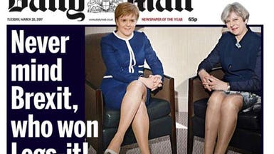 جريدة بريطانية تثير الغضب بسبب تلميحات جنسية عن ماي