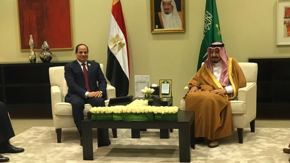 King Salman with Sisi