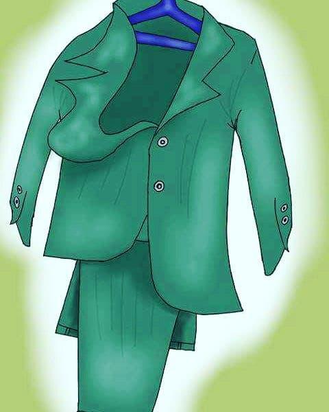 رسم كاريكاتوري تداوله مغاربة على مواقع التواصل الاجتماعي للسخرية ببدلة زعيم حزب الوردة السابع انتخابيا في المغرب