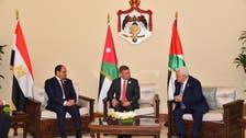قمة مصرية أردنية فلسطينية لبحث إحياء عملية السلام