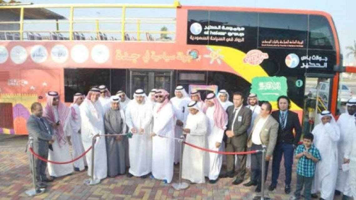 A double-decker city bus service, the first of its kind in Jeddah, hit the road on Tuesday. (Saudi Gazette)