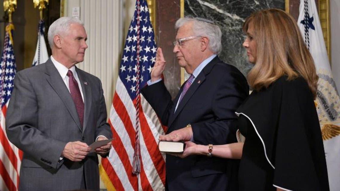 ديفيد فريدمات يؤدي اليمين الدستورية سفيرا لواشنطن في إسرائيل