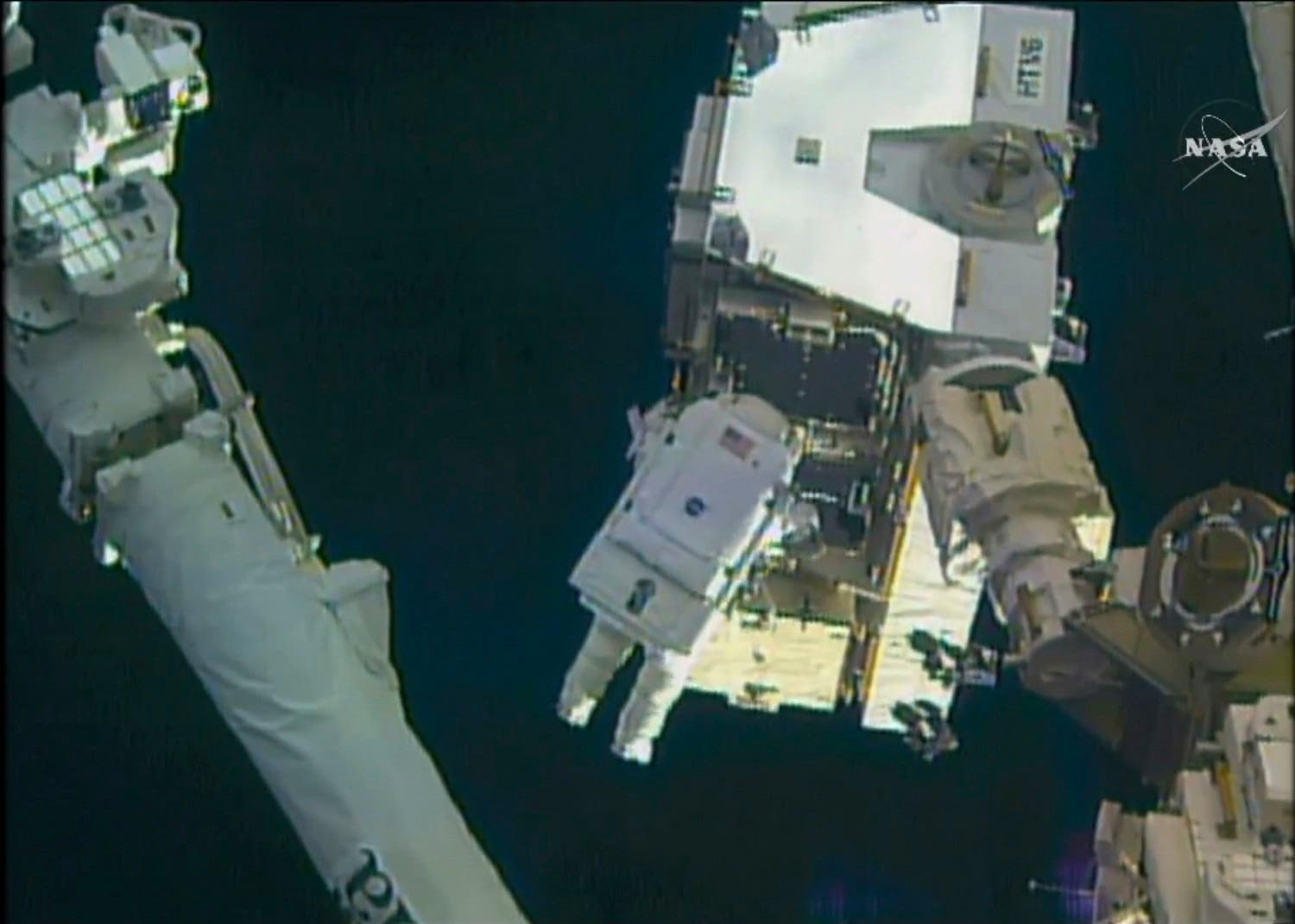 Whitson and her spacewalking partner, Shane Kimbrough, need to complete prep work on a docking port. (AP)