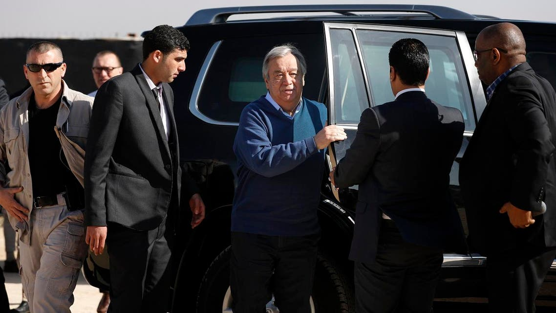 UN chief Antonio Guterres visited Iraq, calling for protecting civilians to be the 'absolute priority'. (AFP)